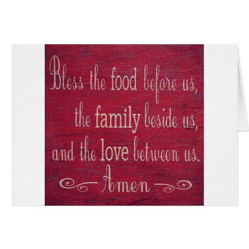 Food Blessing Greeting Cards