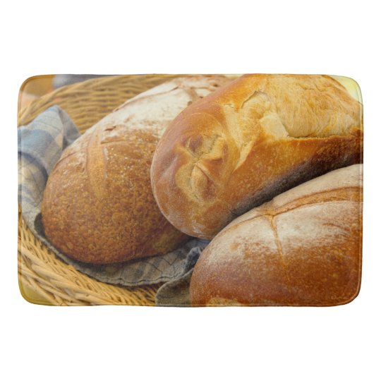 Food - Bread - Just loafing around Bath Mats
