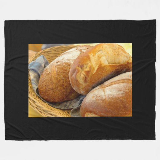 Food - Bread - Just loafing around Fleece Blanket