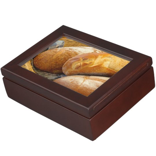 Food - Bread - Just loafing around Keepsake Boxes