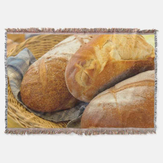 Food - Bread - Just loafing around Throw Blanket