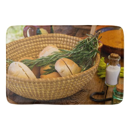 Food - Bread - Rolls and Rosemary Bath Mats