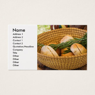 Food - Bread - Rolls and Rosemary Business Card