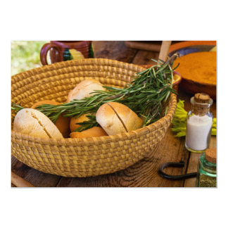 Food - Bread - Rolls and Rosemary Card