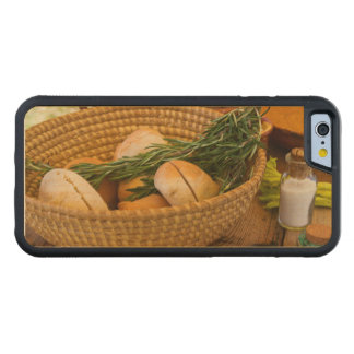 Food - Bread - Rolls and Rosemary Carved Maple iPhone 6 Bumper Case
