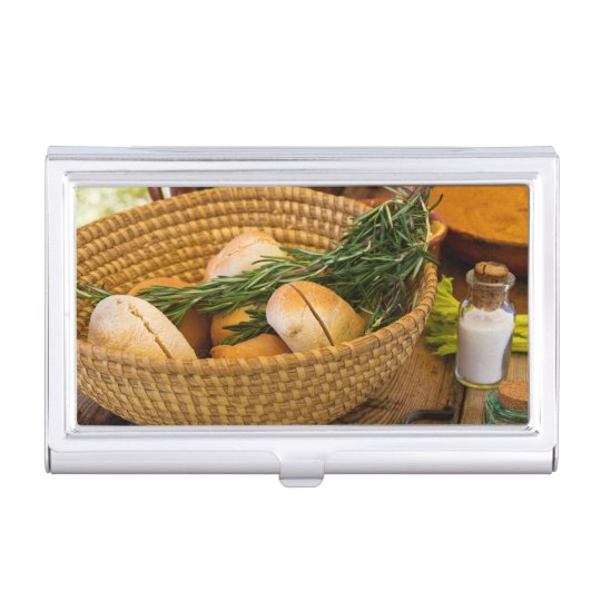 Food - Bread - Rolls and Rosemary Case For Business Cards