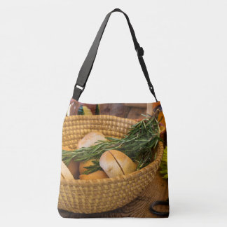 Food - Bread - Rolls and Rosemary Crossbody Bag