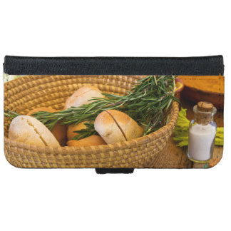 Food - Bread - Rolls and Rosemary iPhone 6 Wallet Case