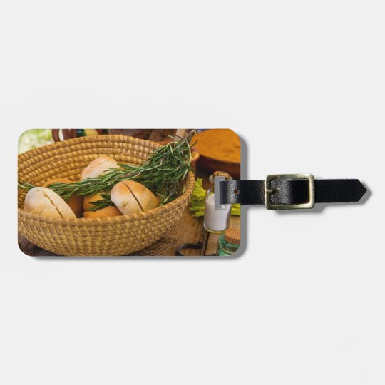 Food - Bread - Rolls and Rosemary Luggage Tag
