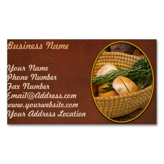 Food - Bread - Rolls and Rosemary Magnetic Business Card