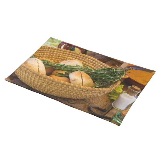 Food - Bread - Rolls and Rosemary Placemat