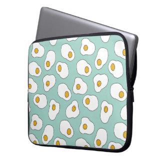 Food Breakfast Fried Eggs Mint / Andrea Lauren Laptop Sleeve