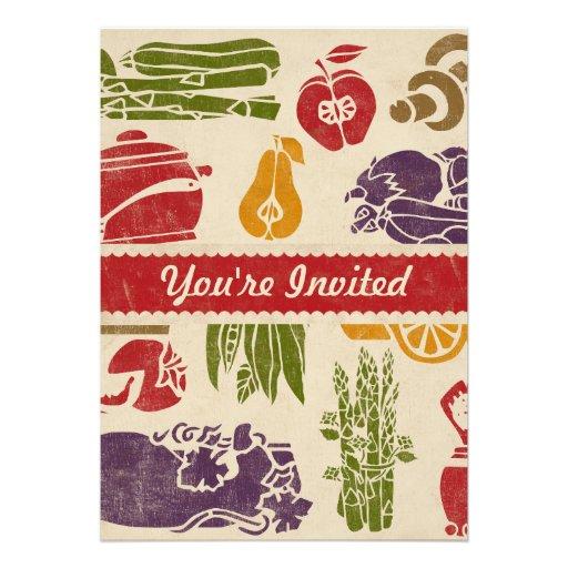 Food Celebration Party Invitation