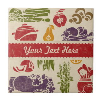 Food Celebration Personalized Tile