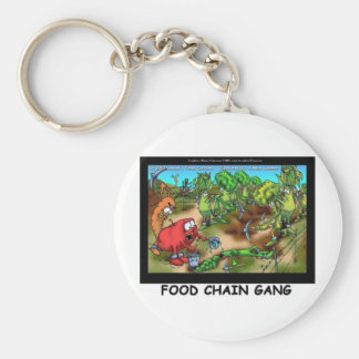 Food Chain Gang Funny Gifts Tees & Collectibles Basic Round Button Key Ring