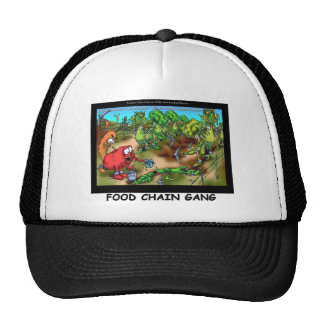 Food Chain Gang Funny Gifts Tees & Collectibles Trucker Hat