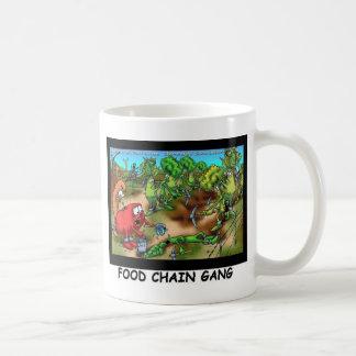 Food Chain Gang Funny Gifts Tees & Collectibles Basic White Mug
