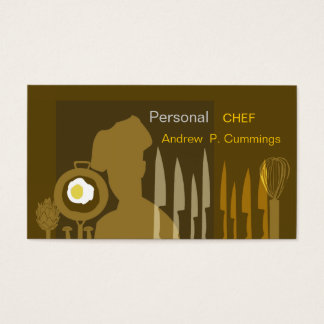 Food Chef Cooking Sharp Knife Culinary Delight Business Card