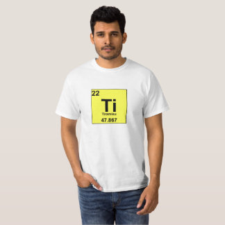 Food Chemistry Periodic Table: Tiramisu/Titanium T-Shirt