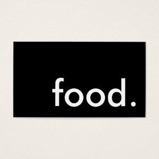 food. (color customizable) business card