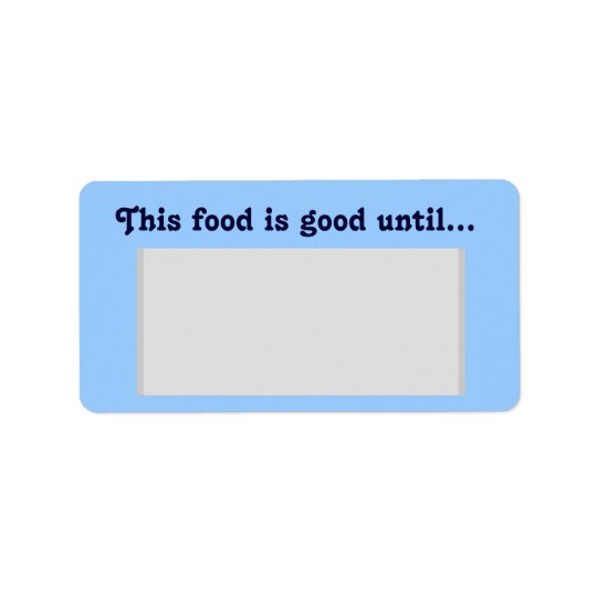 Food Container Label