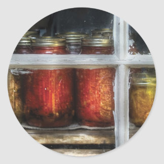 Food - Country Preserves Round Stickers