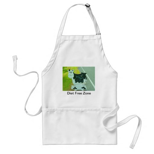 "Food ,diet "" diet free ""cows,humour ,New Zealand . Aprons"