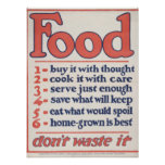 Food Don't Waste It (Poster)