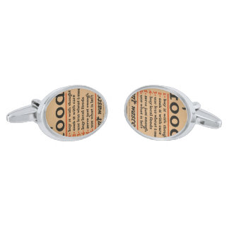 Food, Don't Waste It - Vintage War Poster Silver Finish Cuff Links