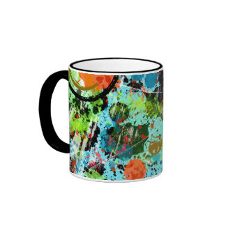 Food Fight Abstract Mugs