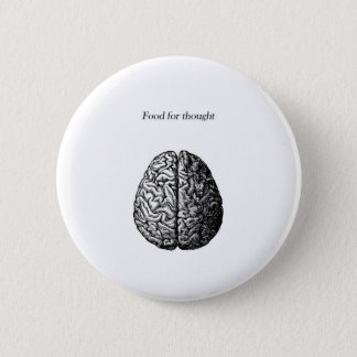 Food for Thought 6 Cm Round Badge