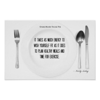 Food for Thought: Fitness Motivation! Print
