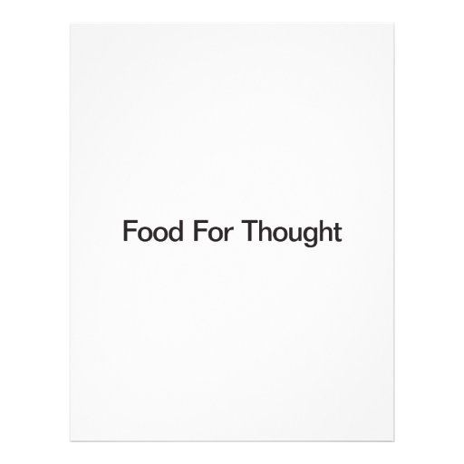 Food For Thought Custom Flyer