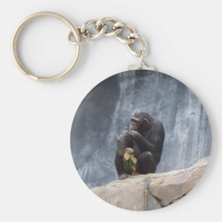 Food for Thought Basic Round Button Key Ring