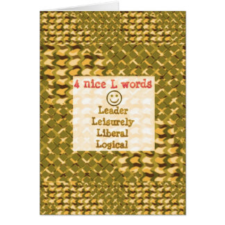 FOOD for THOUGHT: Leader, Logical,Liberal LOWPRICE Greeting Cards