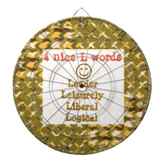 FOOD for THOUGHT: Leader, Logical,Liberal LOWPRICE Dartboard