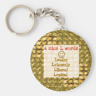 FOOD for THOUGHT: Leader, Logical,Liberal LOWPRICE Keychains