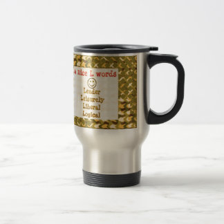 FOOD for THOUGHT: Leader, Logical,Liberal LOWPRICE Coffee Mugs