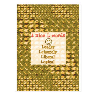 FOOD for THOUGHT: Leader, Logical,Liberal LOWPRICE Postcards