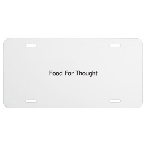 Food For Thought License Plate