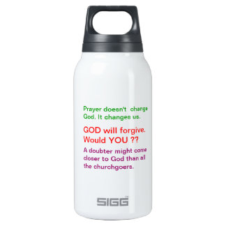 Food for thought : Practical Wisdom Words 0.3 Litre Insulated SIGG Thermos Water Bottle