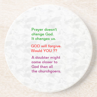 Food for thought : Practical Wisdom Words Beverage Coaster