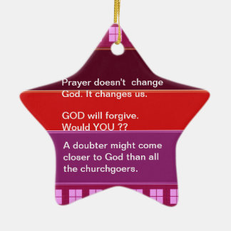 Food for thought : Practical Wisdom Words Ceramic Star Decoration
