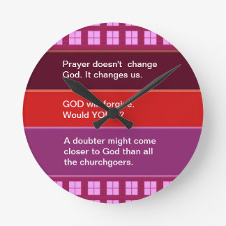 Food for thought : Practical Wisdom Words Round Wall Clocks