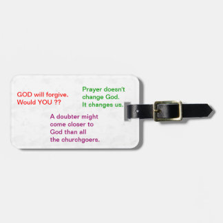 Food for thought : Practical Wisdom Words Luggage Tag