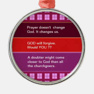 Food for thought : Practical Wisdom Words Silver-Colored Round Decoration