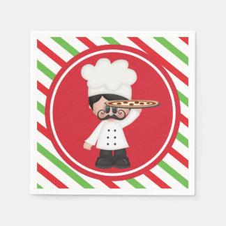 Food fun Italian chef pizza serving napkins Disposable Serviette