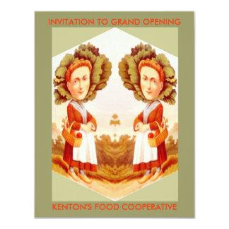 FOOD GARDEN FARM COOPERATIVES CO-OP INVITATIONS! 11 CM X 14 CM INVITATION CARD