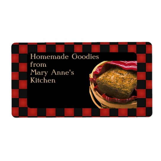 Food Gift From Your  Kitchen Personalised Custom Shipping Label