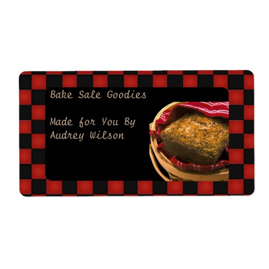 Food Gift From Your Personalised Kitchen Shipping Label